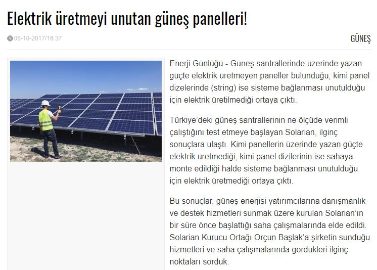 Solarian Enerji - Enerji Günlüğü