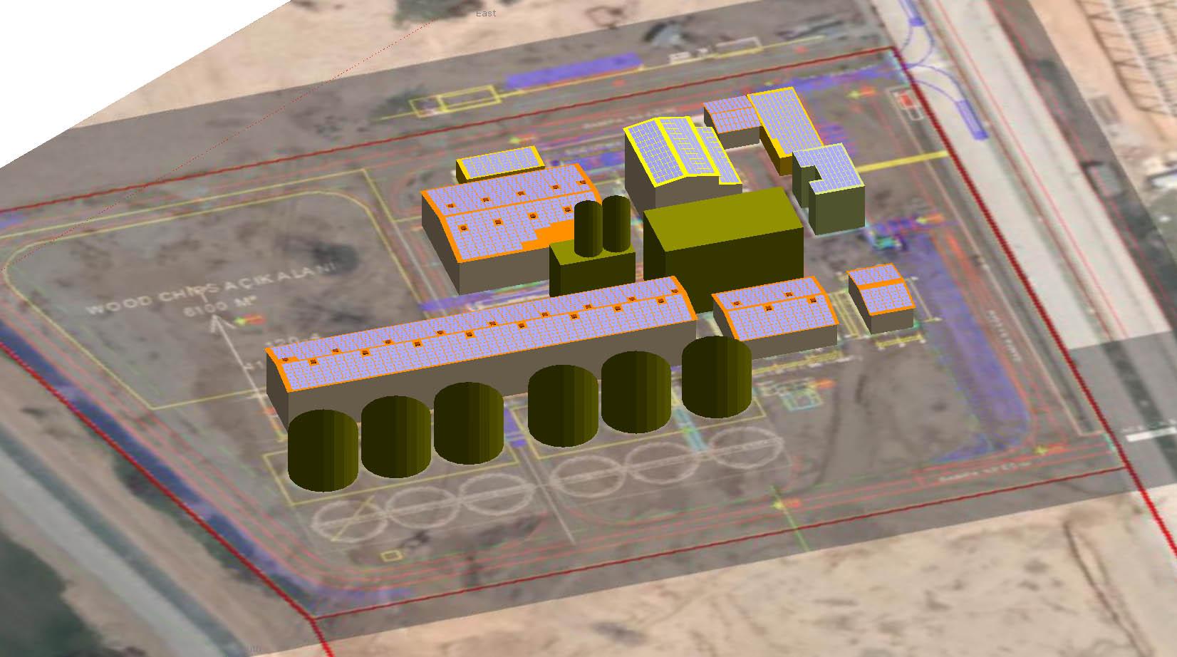 Çatı tipi güneş enerjisi tesislerinde detaylı gölgeleme analizi