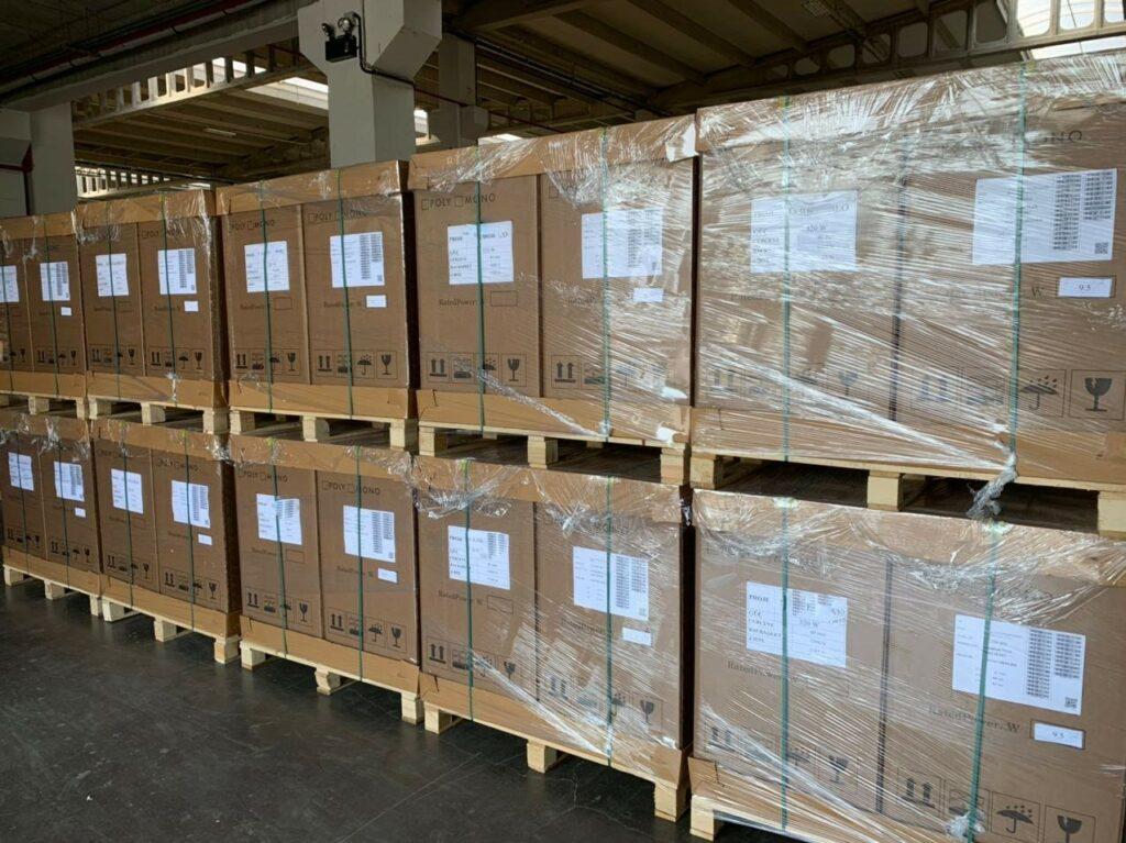 güneş paneli imalatında paketleme denetimi